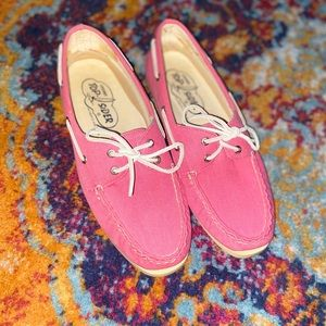 [Sperry Top-Sider] Pink Canvas Boat Shoes